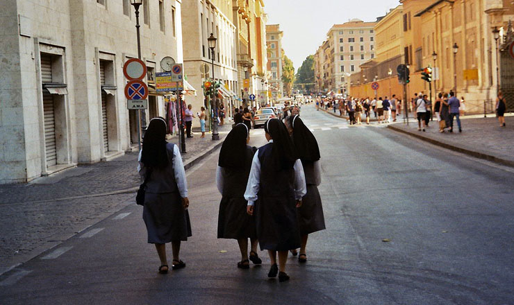 Italy Street Nuns